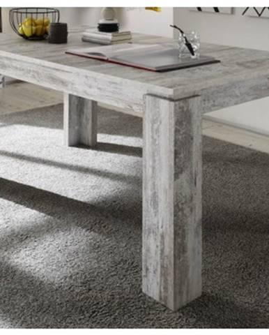 Jedálenský stôl Universal 160x90 cm, bielená borovica canyon%