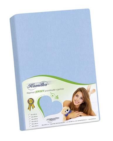 Bellatex Jersey prestieradlo Kamilka svetlo modrá, 100 x 200 cm