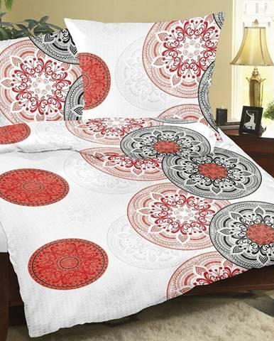 Bellatex Krepové obliečky Mandala červená