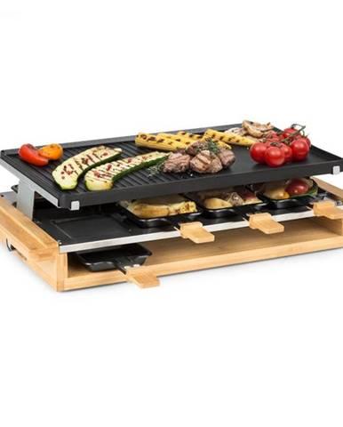 Klarstein Tournedo, raclette, 1200 W, liaty hliník, 8 osôb, drevený dekor