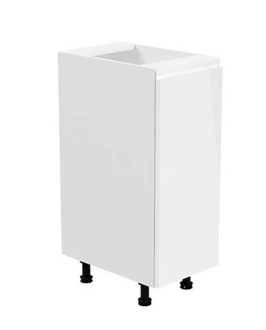 Spodná skrinka biela/biela extra vysoký lesk pravá AURORA D30