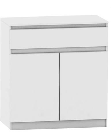 2 dverová komoda s jedným šuplíkom biela HANY NEW 007