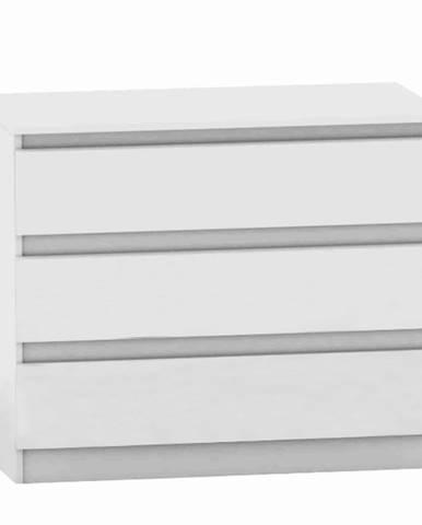 3 šuplíková komoda biela HANY NEW 003