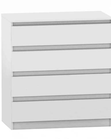 4 šuplíková komoda biela HANY NEW 004