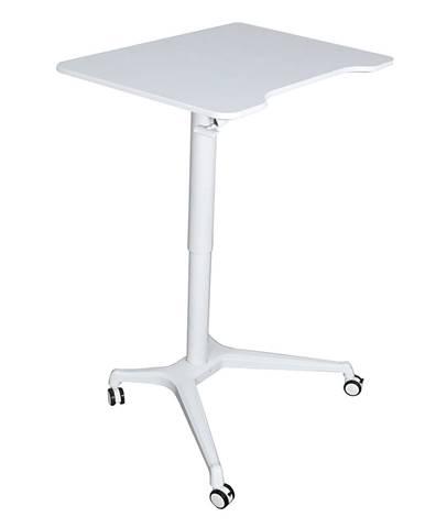 Pracovný stôl s nastaviteľnou výškou biela NIXON
