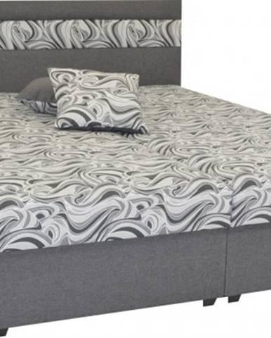Čalúnená posteľ Mexico 180x200, šedá, vrátane úp