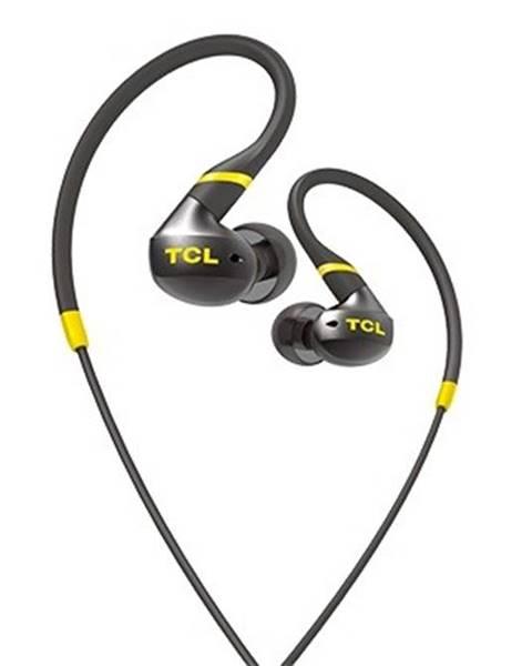 TCL TCL športové slúchadlá do uší, drôtové, mikrofón, IPX4, čierna