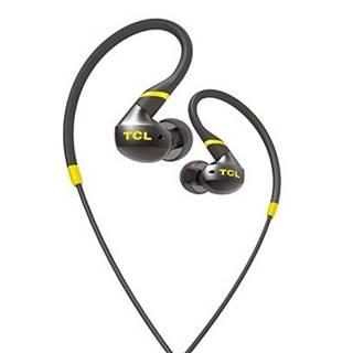 TCL športové slúchadlá do uší, drôtové, mikrofón, IPX4, čierna