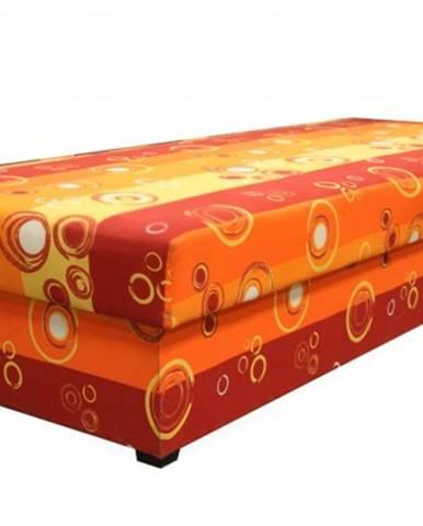 Váľanda Iveta 80x200, oranžová, vrátane matraca a úp