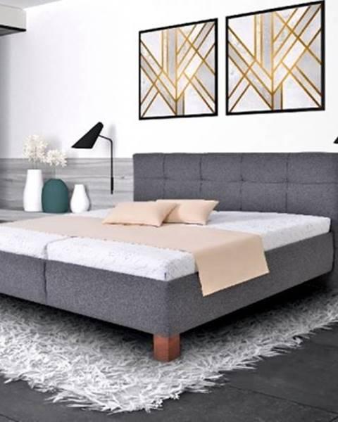 OKAY nábytok Čalúnená posteľ Mary 160x200 vr. matraca, pol. roštu a ÚP