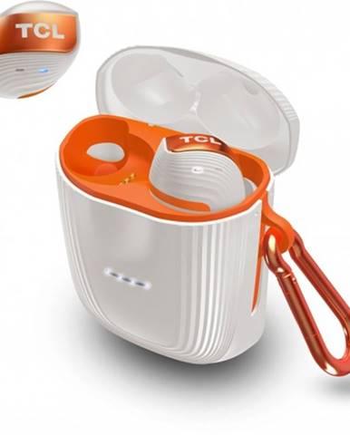 True wireless slúchadlá TCL ACTV500TWS bielo-oranžové