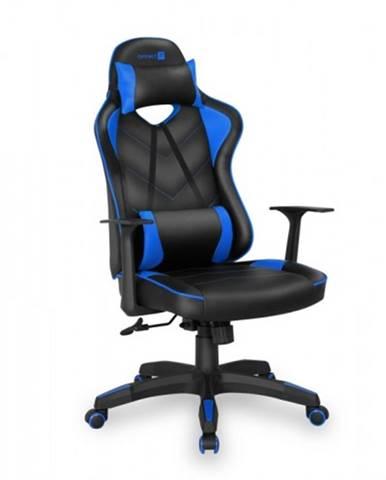 Herná stolička Connect IT LeMans Pro čierna/modrá - CGC-0700-BL + ZDARMA podložka pod myš a hub