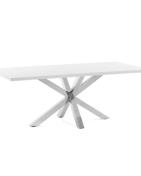 La Forma Biely jedálenský stôl s antikoro podnožím La Forma Arya, 160 x 100 cm