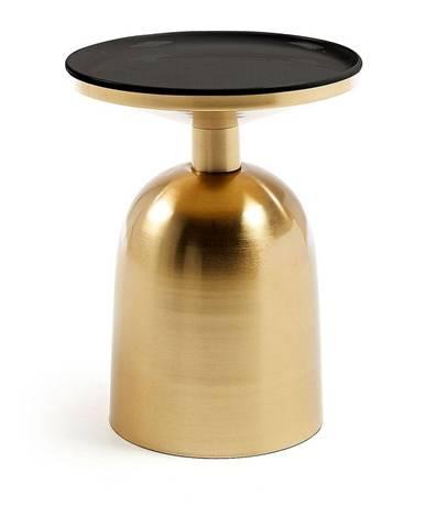 Odkladací stolík v zlatej farbe La Forma Physic, ø 37 cm