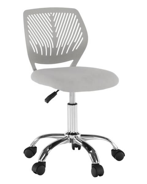 Kondela Otočná stolička sivá/chróm SELVA