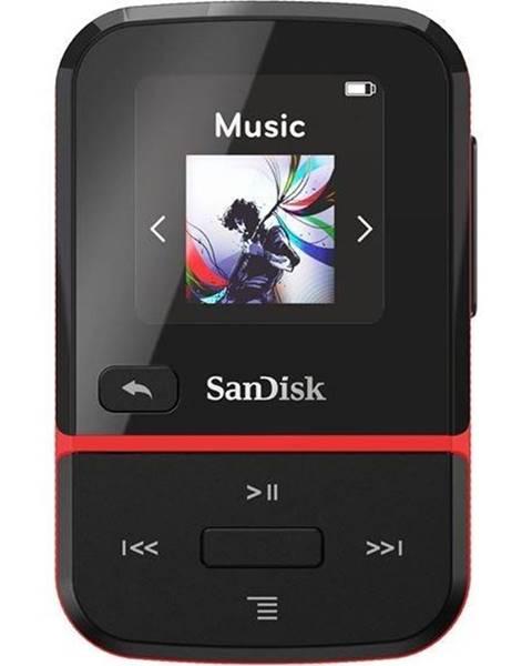 Sandisk MP3 prehrávač Sandisk Clip Sport Go 16 GB čierny/červen