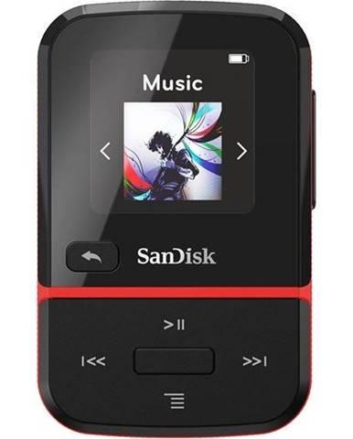 MP3 prehrávač Sandisk Clip Sport Go 16 GB čierny/červen