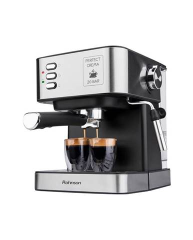 Espresso Rohnson R-982 strieborn