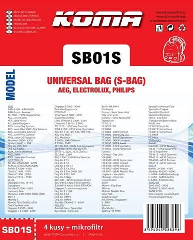 Sáčky pre vysávače Koma SB01S
