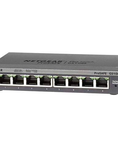 Switch Netgear GS108Ev3 sivý