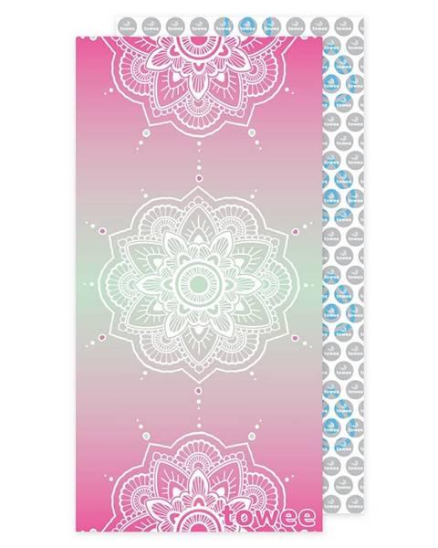 Towee Towee Rýchloschnúca osuška MANDALA pink, 80 x 160 cm
