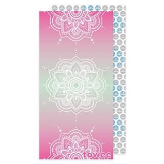 Towee Rýchloschnúca osuška MANDALA pink, 80 x 160 cm
