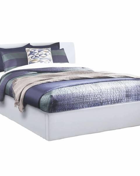 Tempo Kondela Manželská posteľ s úložným priestorom biela 160x200 KERALA