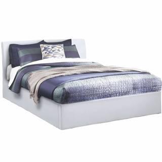 Manželská posteľ s úložným priestorom biela 160x200 KERALA