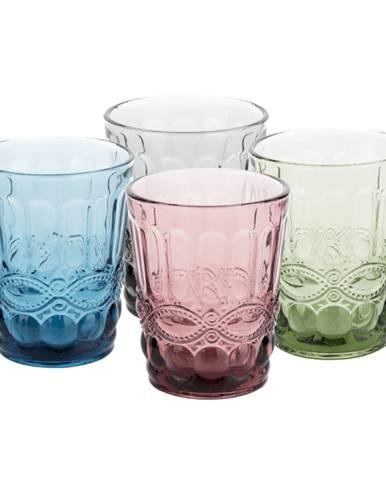 Farebné vintage poháre na vodu 4ks 240ml SAVOY TYP 2