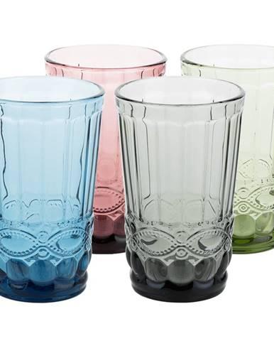 Farebné vintage poháre na vodu 4ks 350ml SAVOY TYP 1