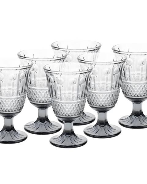 Tempo Kondela Vintage sklené poháre na víno 6ks 220ml sivá LEGACY
