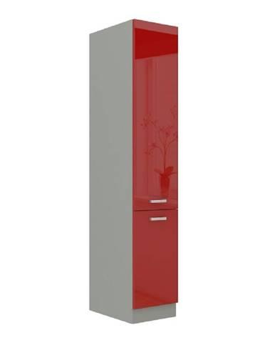 Skrinka potravinová vysoká červený vysoký lesk PRADO 40 DK-210 2F