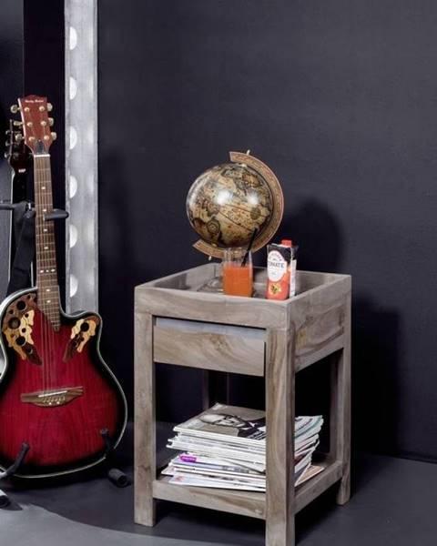 Bighome.sk ROUND Príručný stolík 40x40 cm, dymová, palisander