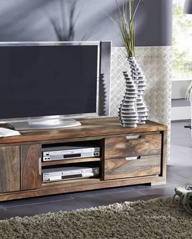 PLAIN SHEESHAM TV stolík 150x45 cm, palisander