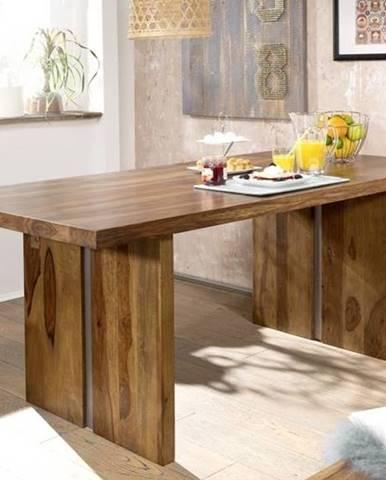 ROUND Jedálenský stôl 220x100 cm, hnedá, palisander