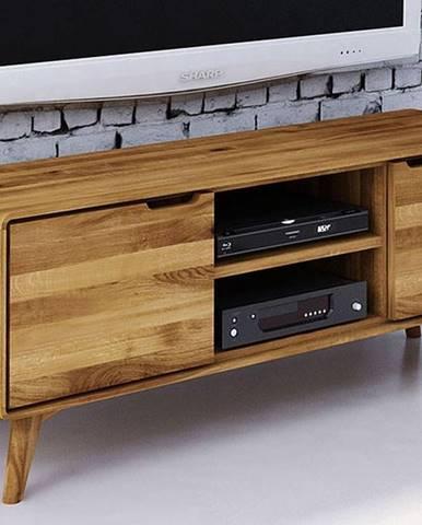 SKANE TV stolík 134x48 cm, dub, prírodná