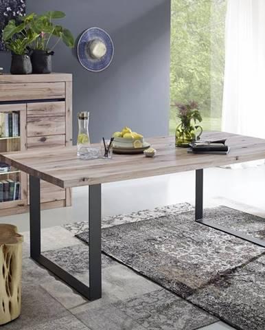 VEVEY Jedálenský stôl 160x90 cm, svetlohnedá, dub