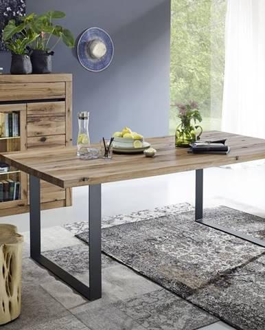 VEVEY Jedálenský stôl 200x100 cm, tmavohnedá, dub