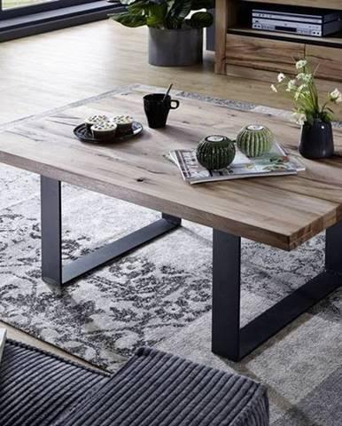VEVEY Konferenčný stolík 90x90 cm, svetlohnedá, dub