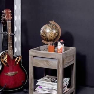 ROUND Príručný stolík 40x40 cm, dymová, palisander