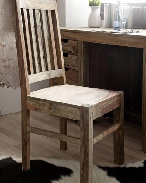 Bighome.sk GREY WOOD Jedálenská stolička drevená