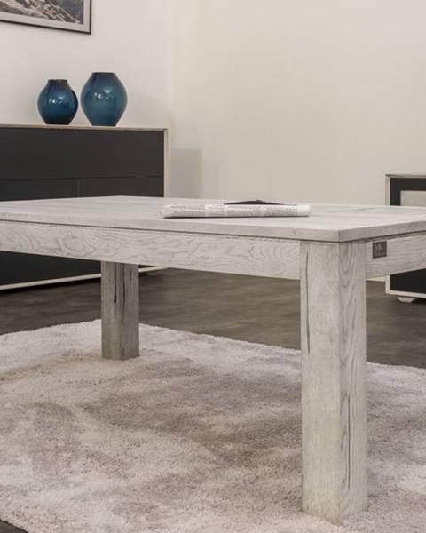 Bighome.sk TAMPERE Konferenčný stolík 90x90 cm, dub, svetlosivá