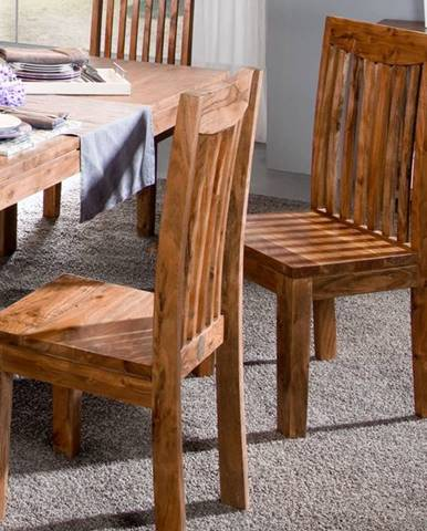 KOLINS Jedálenská stolička drevená, akácia