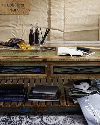 OLDTIME Konferenčný stolík 140x80 cm, staré drevo