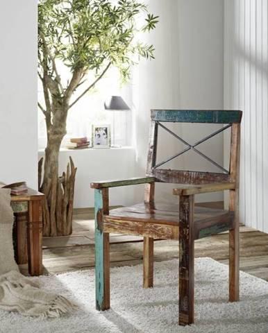 OLDTIME Kreslo drevené, staré drevo