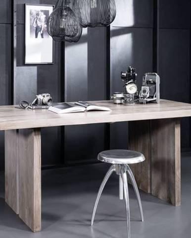 ROUND Jedálenský stôl 220x100 cm, dymová, palisander