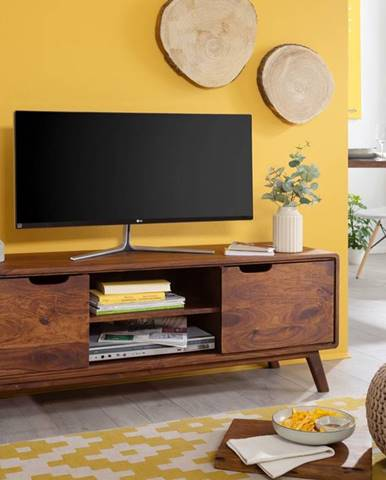 SKANE TV stolík 134x48 cm, palisander, hnedá