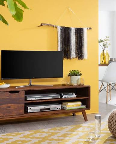 SKANE TV stolík I. 134x48 cm, palisander, hnedá