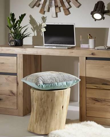 VEVEY Písací stôl 150x50 cm, svetlohnedá, dub