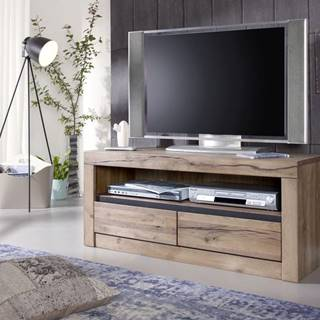 VEVEY TV stolík 115x49 cm, svetlohnedá, dub